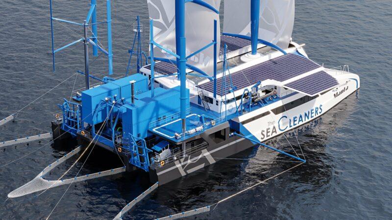 Un aspiraplastica per l'oceano: arriva il catamarano che pulisce acque e fondali